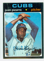 1971 Topps Baseball 647 Juan Pizarro High Number Chicago Cubs Excellent to Excellent Plus
