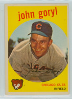 1959 Topps Baseball 77 John Goryl Chicago Cubs Excellent to Excellent Plus