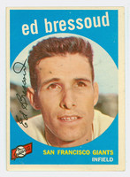 1959 Topps Baseball 19 Ed Bressoud San Francisco Giants Excellent to Mint