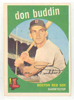 1959 Topps Baseball 32 Don Buddin Boston Red Sox Excellent to Mint
