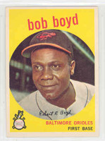 1959 Topps Baseball 82 Bob Boyd Baltimore Orioles Excellent to Mint