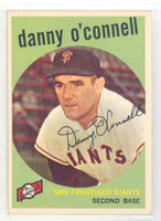 1959 Topps Baseball 87 Danny O' Connell San Francisco Giants Excellent to Mint