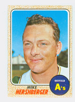 1968 Topps Baseball 18 Mike Hershberger Oakland Athletics Near-Mint to Mint