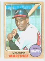 1968 Topps Baseball 578 Marty Martinez High Number Atlanta Braves Excellent to Excellent Plus