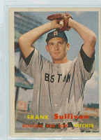 1957 Topps Baseball 21 Frank Sullivan  [SKU:Y57_T57BB_021a_6exmS]  Boston Red Sox Excellent to Mint