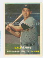 1957 Topps Baseball 3 Dale Long Pittsburgh Pirates Very Good