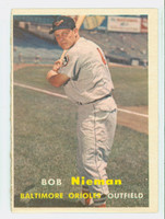 1957 Topps Baseball 14 Bob Nieman Baltimore Orioles Very Good