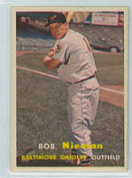 1957 Topps Baseball 14 Bob Nieman Baltimore Orioles Very Good to Excellent