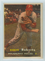 1957 Topps Baseball 15 Robin Roberts Philadelphia Phillies Excellent to Excellent Plus