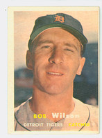 1957 Topps Baseball 19 Bob Wilson Detroit Tigers Very Good