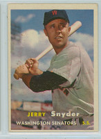 1957 Topps Baseball 22 Jerry Snyder Washington Senators Excellent to Mint