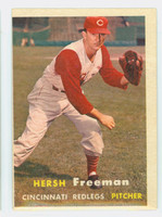 1957 Topps Baseball 32 Hershell Freeman Cincinnati Reds Very Good to Excellent