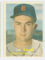 1957 Topps Baseball 33 Jim Small Detroit Tigers Very Good