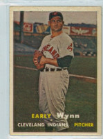 1957 Topps Baseball 40 Early Wynn Cleveland Indians Very Good to Excellent