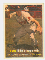 1957 Topps Baseball 47 Don Blasingame St. Louis Cardinals Very Good