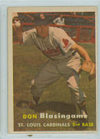 1957 Topps Baseball 47 Don Blasingame St. Louis Cardinals Very Good to Excellent