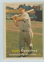 1957 Topps Baseball 51 Clint Courtney Washington Senators Excellent to Excellent Plus