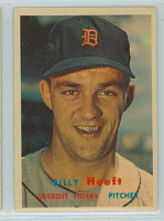 1957 Topps Baseball 60 Billy Hoeft Detroit Tigers Excellent to Excellent Plus