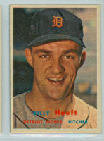 1957 Topps Baseball 60 Billy Hoeft Detroit Tigers Excellent to Mint
