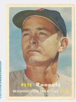 1957 Topps Baseball 64 Pete Runnels Washington Senators Very Good