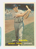 1957 Topps Baseball 72 Bill Tuttle Detroit Tigers Excellent to Mint