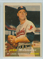 1957 Topps Baseball 81 Herman Wehmeier St. Louis Cardinals Excellent to Excellent Plus