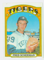 1972 Topps Baseball 6 Fred Scherman Detroit Tigers Near-Mint