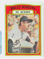 1972 Topps Baseball 34 Billy Martin IA Detroit Tigers Excellent to Excellent Plus