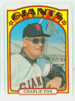 1972 Topps Baseball 129 Charlie Fox San Francisco Giants Near-Mint