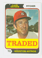 1974 Topps Baseball 42 T Claude Osteen TRADED Houston Astros Near-Mint