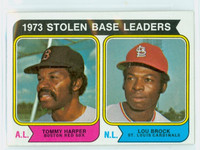 1974 Topps Baseball 204 SB Leaders Excellent to Mint