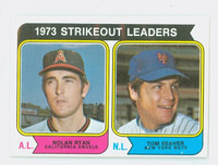 1974 Topps Baseball 207 Strikeout Leaders Excellent to Mint