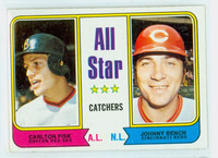 1974 Topps Baseball 331 All Star Catchers Excellent to Mint