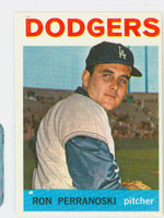 1964 Topps Baseball 30 Ron Perranoski Los Angeles Dodgers Excellent