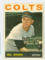 1964 Topps Baseball 56 Hal Brown Houston Colts Excellent