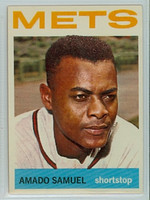 1964 Topps Baseball 129 Amado Samuel New York Mets Excellent to Mint