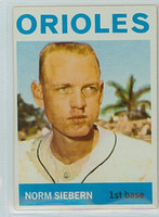 1964 Topps Baseball 145 Norm Siebern Baltimore Orioles Excellent to Mint