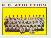 1964 Topps Baseball 151 A's Team Kansas City Athletics Very Good to Excellent