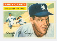 1956 Topps Baseball 12 Andy Carey New York Yankees Excellent to Mint Grey Back