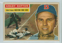 1956 Topps Baseball 26 Grady Hatton Boston Red Sox Excellent to Mint White Back