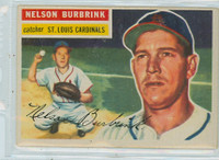 1956 Topps Baseball 27 Nelson Burbrink St. Louis Cardinals Very Good to Excellent White Back
