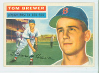 1956 Topps Baseball 34 Tom Brewer Boston Red Sox Excellent to Excellent Plus