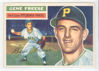 1956 Topps Baseball 46 Gene Freese Pittsburgh Pirates Excellent White Back