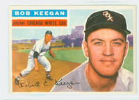 1956 Topps Baseball 54 Bob Keegan Chicago White Sox Excellent to Mint Grey Back