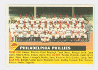 1956 Topps Baseball 72 c Phillies Team NO DATE  Excellent to Excellent Plus White Back