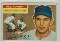 1956 Topps Baseball 112 Dee Fondy Chicago Cubs Good to Very Good White Back