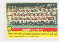 1956 Topps Baseball 213 Tigers Team Tough Series Very Good