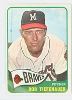 1965 Topps Baseball 23 Bob Tiefenauer Milwaukee Braves Excellent to Mint