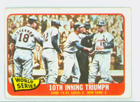 1965 Topps Baseball 136 World Series GM 5 Very Good to Excellent