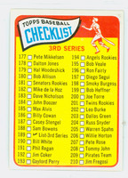 1965 Topps Baseball 189 Checklist Three Very Good to Excellent